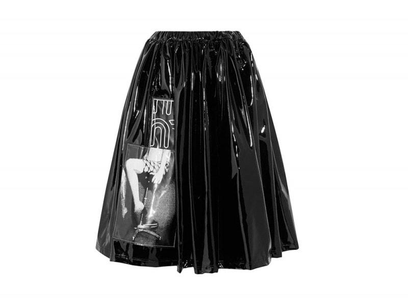 MIU MIU Appliqued vinyl skirt_NET