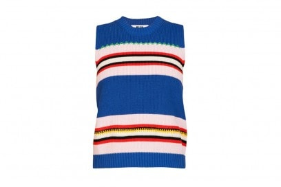MSGM-Blue-Rigje-Top