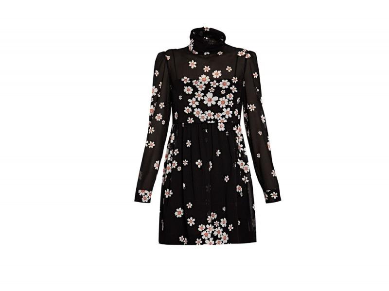 REDValentino-Black-Daisy-Printed-Mini-Dress
