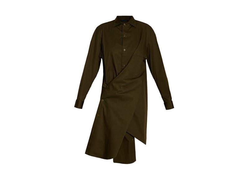 Yohji-Yamamoto-Khaki-Asymmetric-Dress