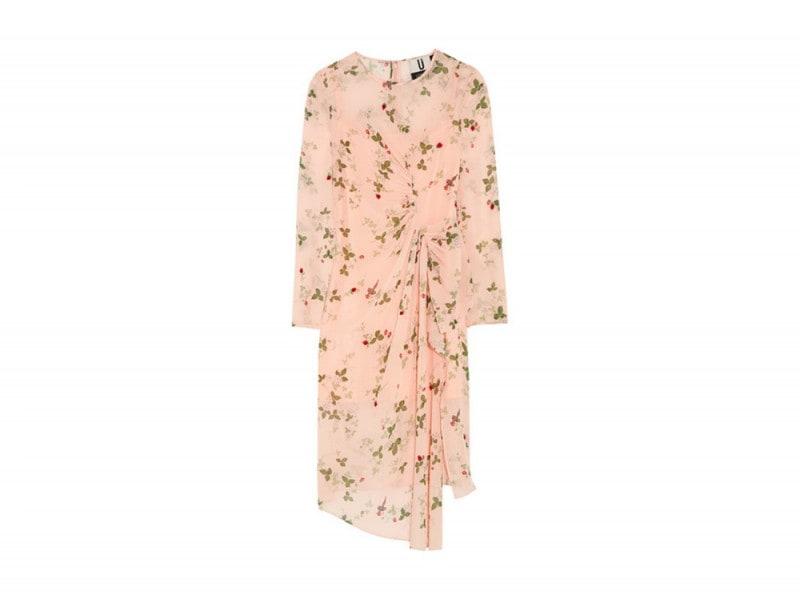 abito con drappeggio topshop unique