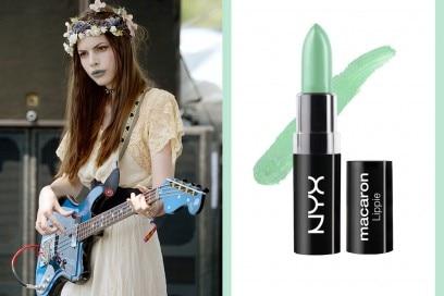 come-truccarsi-per-un-concerto-rock-rossetto-verde-acqua-nyx-pistachio