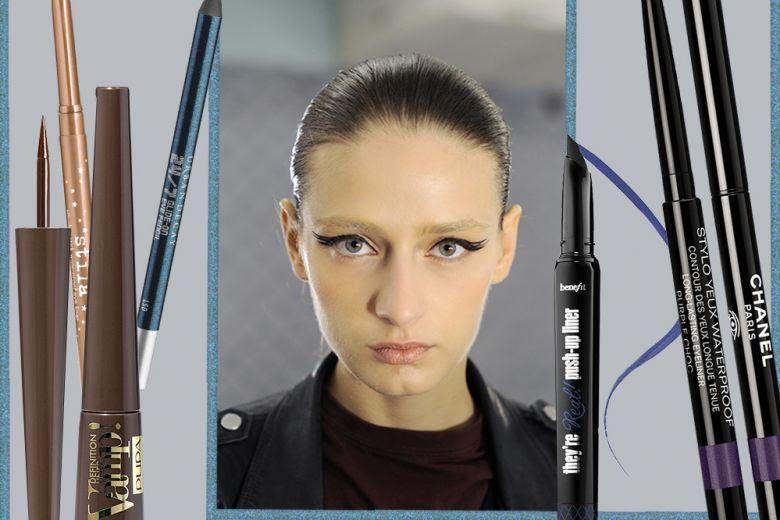 Eyeliner per occhi azzurri: dal classico nero al bronzo e l'oro