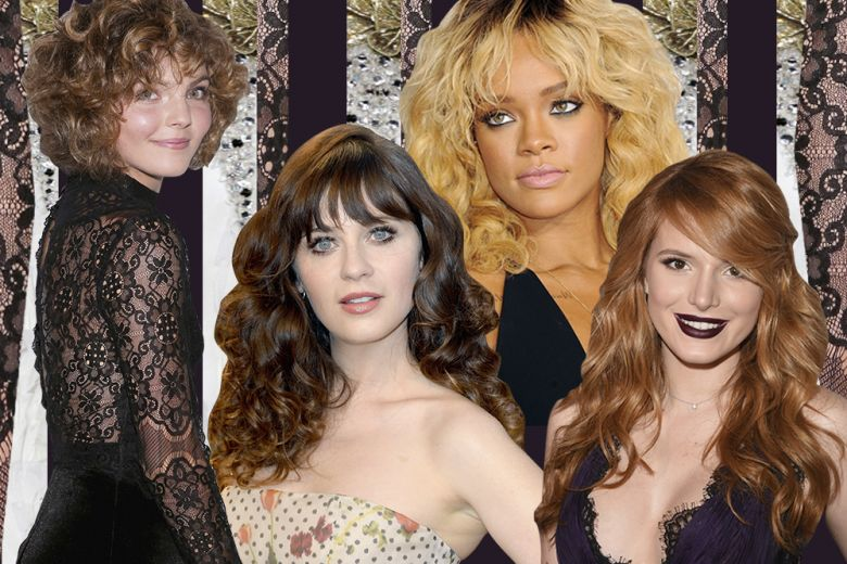 Frangia per capelli ricci: i look delle star