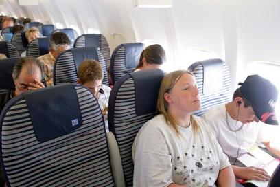 passeggero annoiato aereo