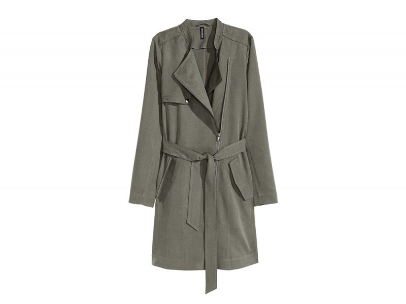 trench con zip hm