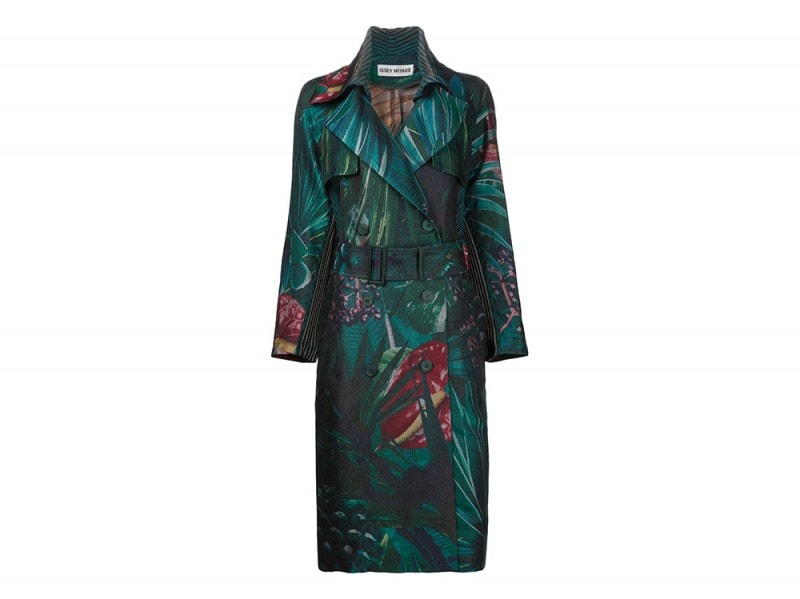 trench stampa tropical issey miyake