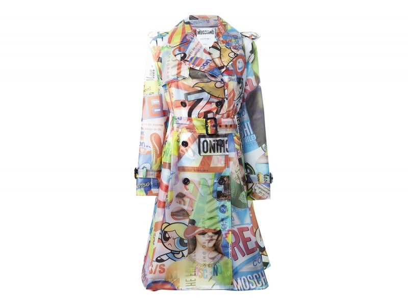 trench stampato moschino