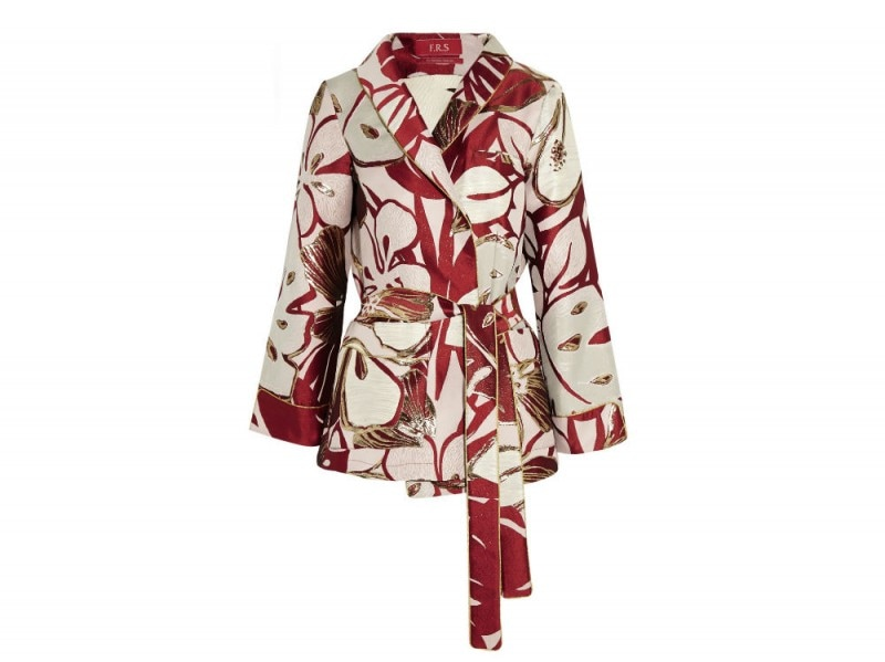 F.R.S FOR RESTLESS SLEEPERS Iride floral-jacquard jacket_NET