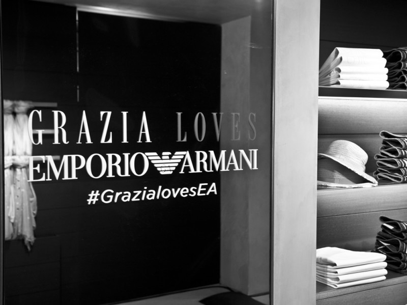 0f656b1e37f671 Grazia Loves Emporio Armani: le prime tappe a Roma e a Napoli ...