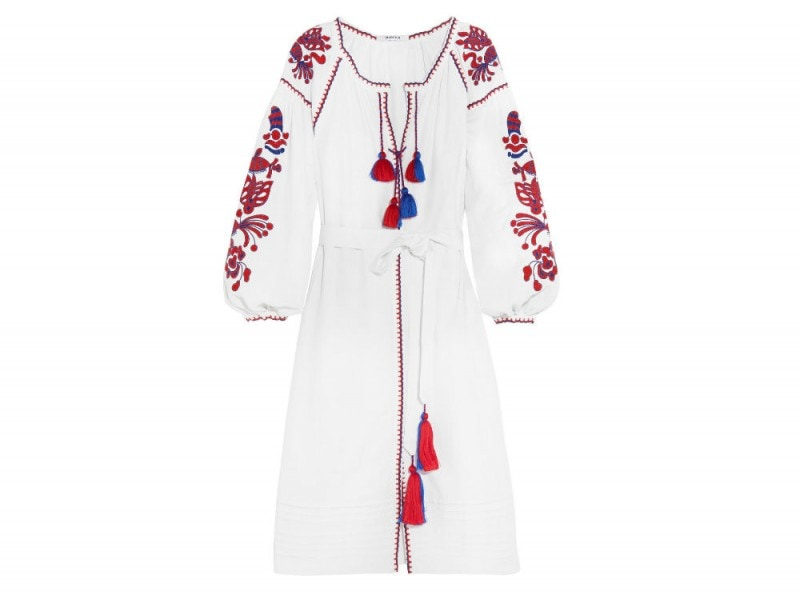 MARCH11 Poppy embroidered linen dress_NET