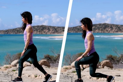 affondi frontali esercizi per rassodare gambe glutei