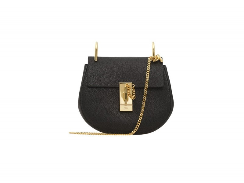 chloe borsa nera tracolla oro