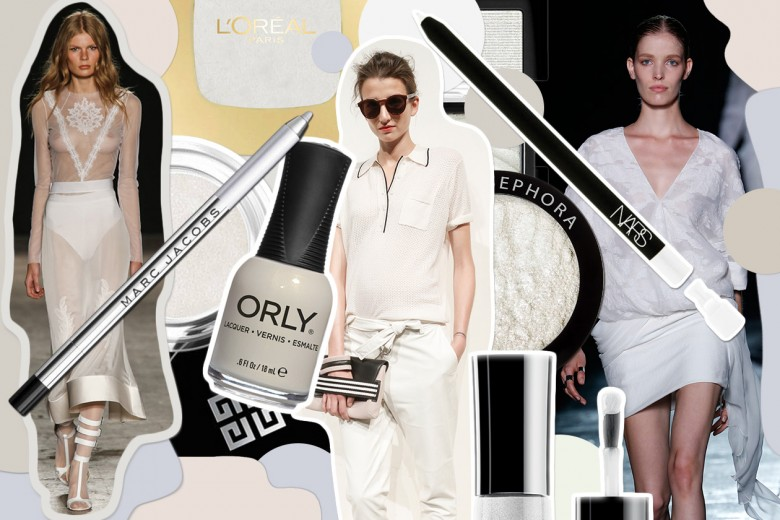 Beauty look bianco: make up e nail art abbinati agli abiti total white