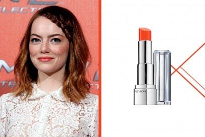 rossetto-corallo-a-chi-sta-bene-Emma-Stone-revlon-ultra-hd-lipstick-marigold