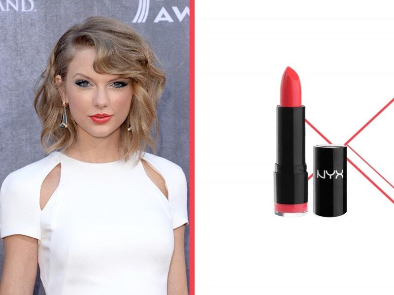 rossetto-corallo-a-chi-sta-bene-taylor-Swift-nyx-round-lipstick-femme