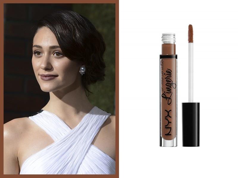 rossetto-marrone-Emily-rossum-nyx-lingerie-beauty-mark