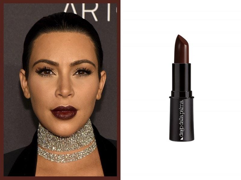 rossetto-marrone-Kim-kardashian-diego-dalla-palma-lipstick-fondente