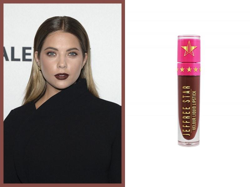 rossetto-marrone-ashley-benson-jeffree-star-cosmetics-dominatrix