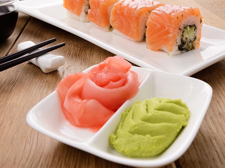 wasabi zenzero sushi