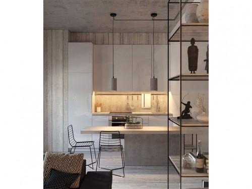 12-stile-contemporaneo-cucina-bianca-sgabelli - Foto - Grazia.it