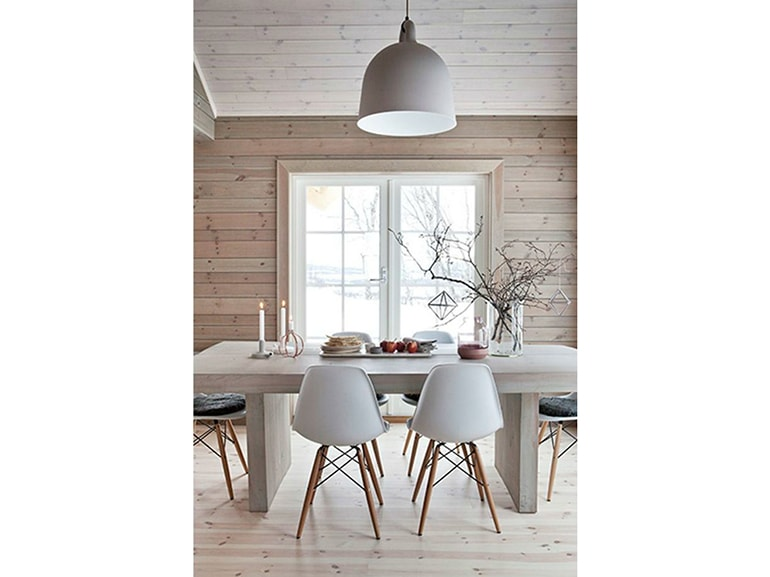 17-stile-scandinavo-tavolo-da-pranzo-sedie-legno-baita-natale ... - Sedie Tavolo Pranzo