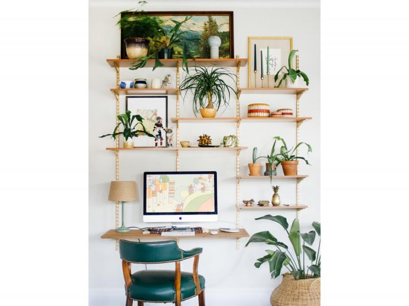 6-postazioni-lavoro-da-casa-piante-appese-sedia-pelle-braccioli