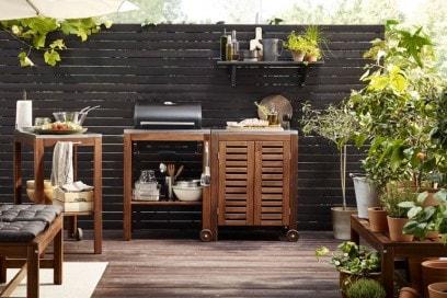 Balcone Ikea barbecue