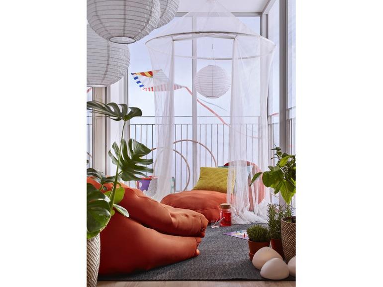 Ikea 20 ispirazioni per arredare il terrazzo - Tende da balcone ikea ...
