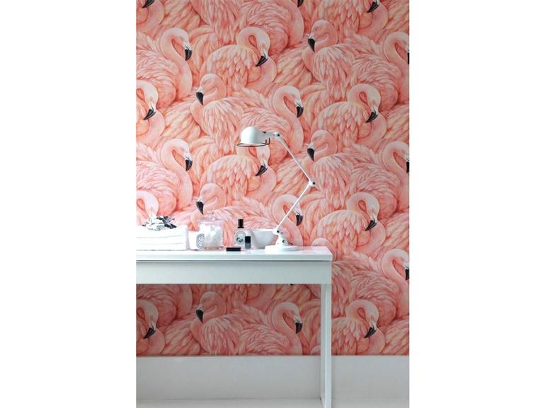 Carta da parati rosa flamingo