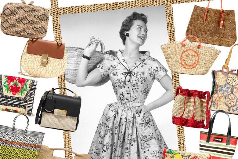 Le borse in paglia per l'estate 2016