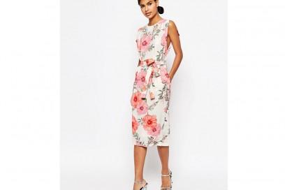 Vestito-midi-elegante-a-fiori-con-cintura-e-apertura-sulle-maniche