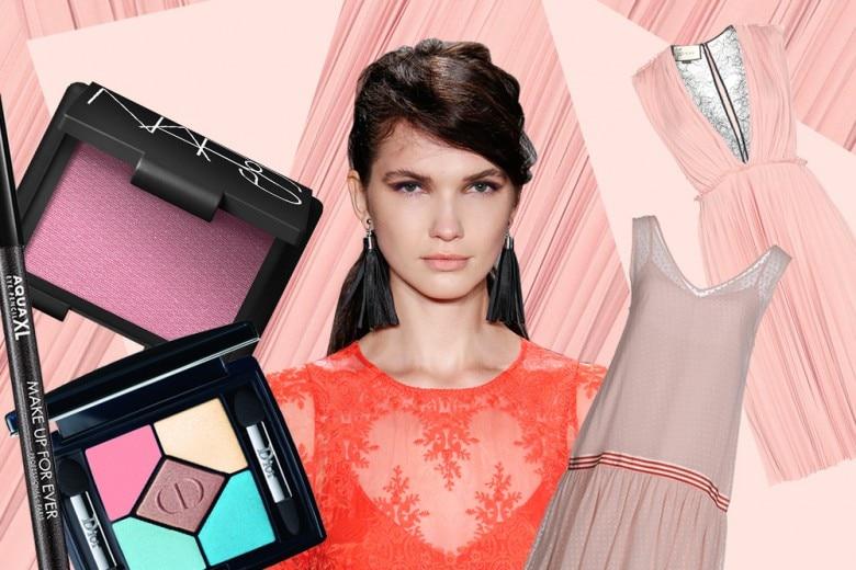 Abiti rosa cipria: il trucco più glam da abbinare