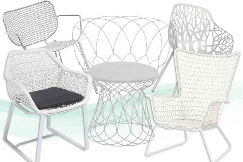 Bianco mania: 10 sedie da giardino nel colore che non teme rivali