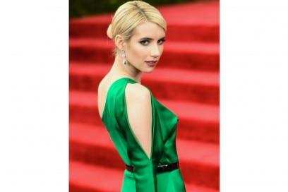 emma roberts capelli 2016 chignon