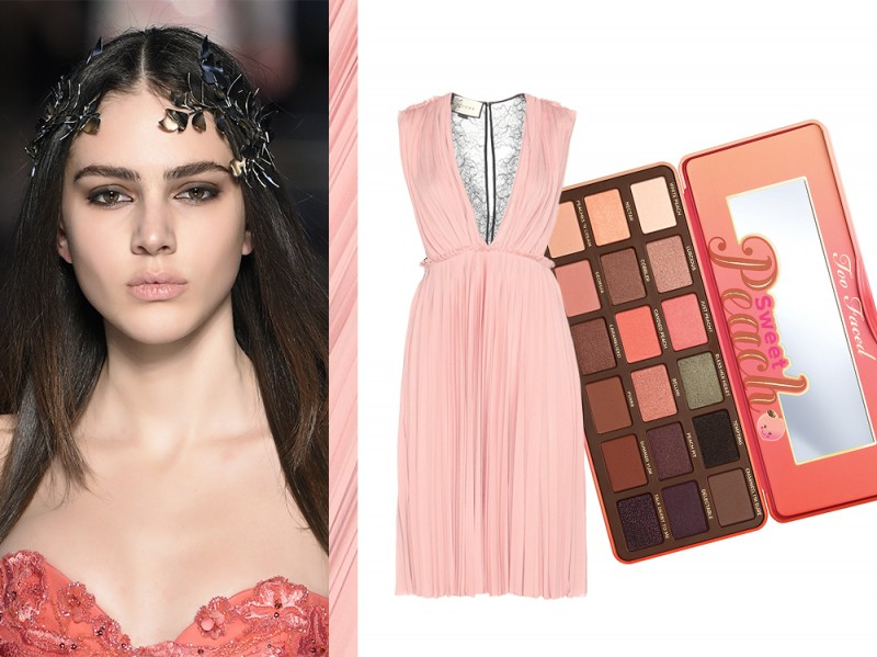 Vestito rosa trucco
