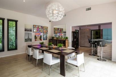 sala da pranzo casa miley cyrus