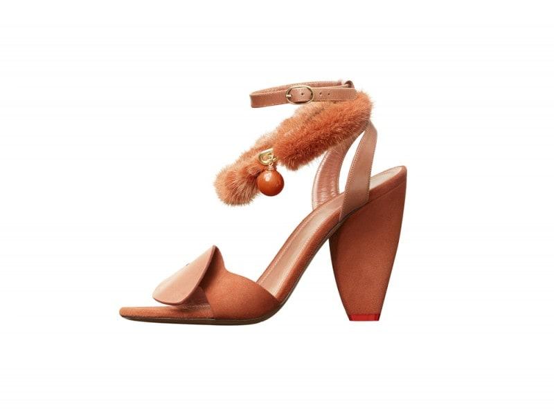 sandalo arancione celine pre-fall