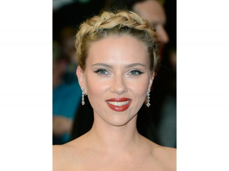 Scarlett Johansson Oscars 2015 Capelli Corti Capelli Tagli Di Capelli