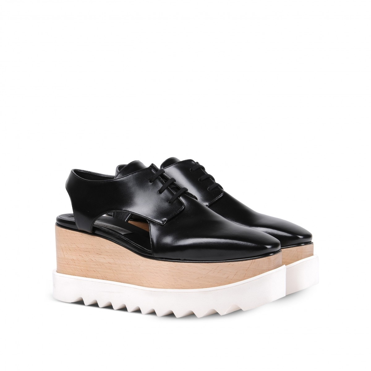 stella mccartney scarpe zeppa stringate