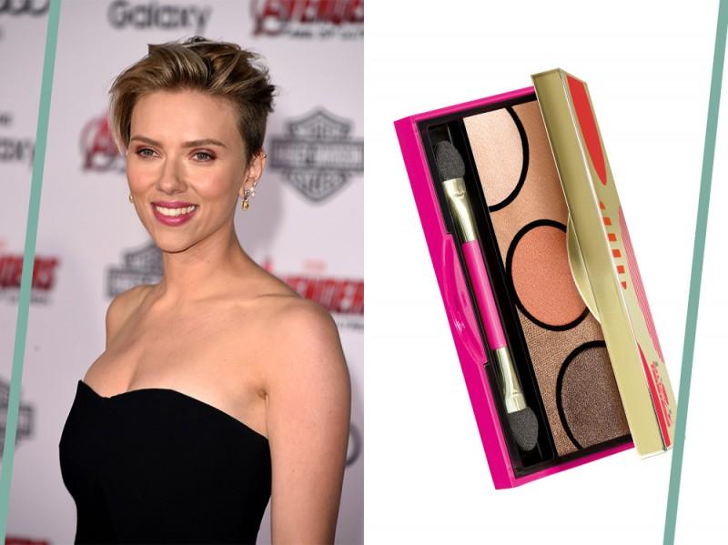 trucco occhi verdi Scarlett Johansson