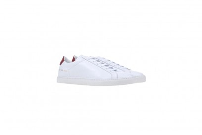 woman by common project sneakers