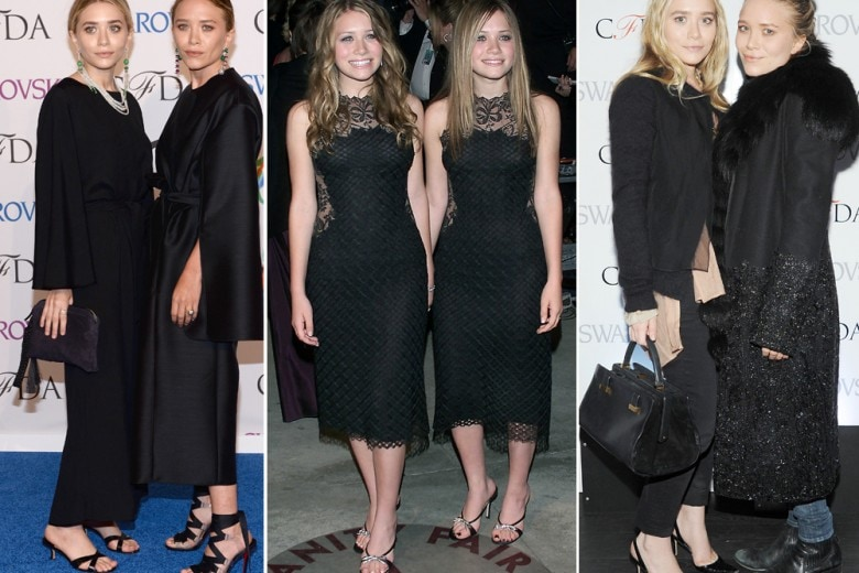 Buon compleanno Gemelle Olsen: 30 anni in total black