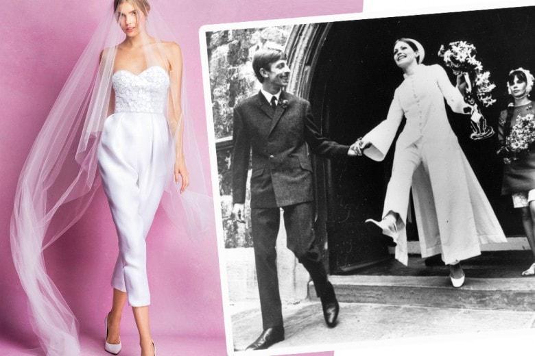 Sposa in pantaloni: i completi e le jumpsuit per la sposa