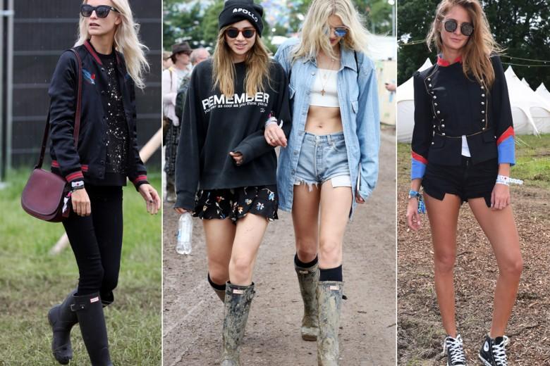 I look delle star a Glastonbury: Hunter boots vs Converse All Star