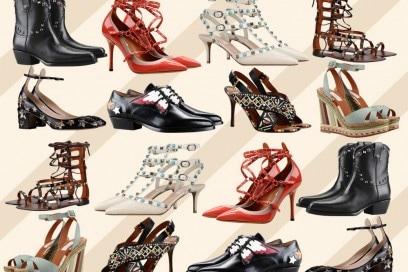 Le scarpe di Valentino per l'estate 2016