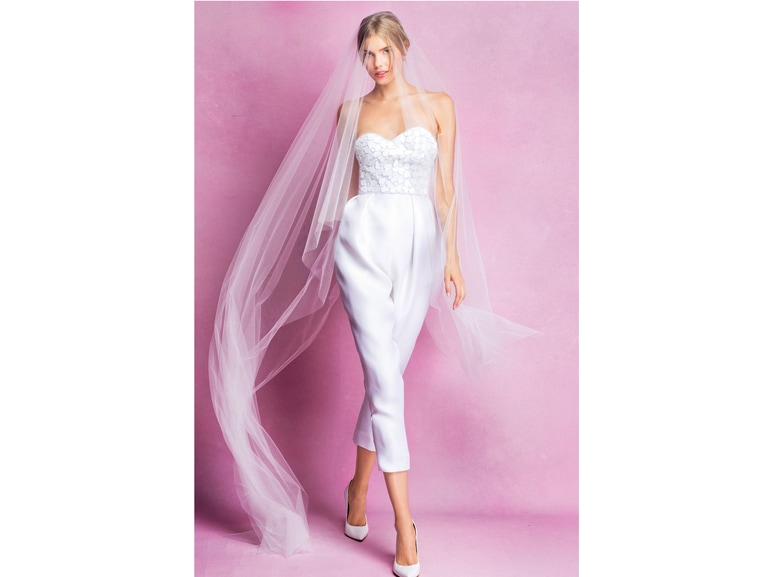abito-sposa-pantaloni angel sanchez 2016 fall