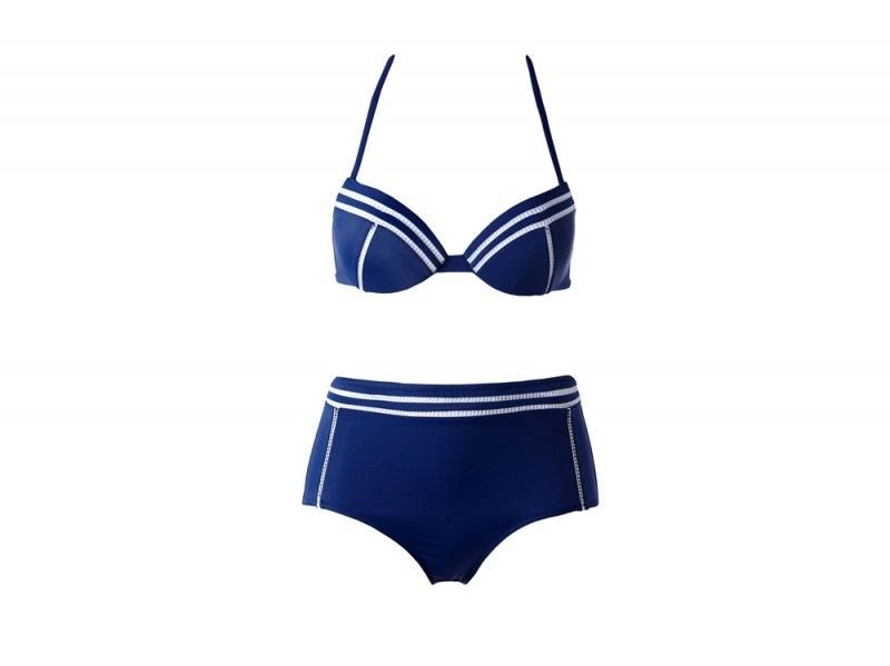 bikini blu e bianco calzedonia