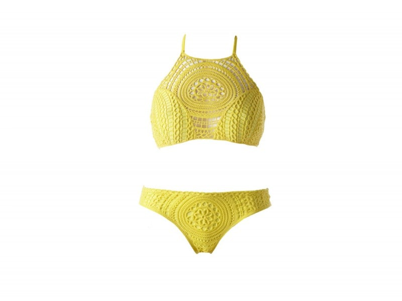 bikini giallo crochet calzedonia