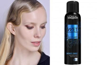 capelli-biondi-acconciature-Onde-anni-20-loreal-professionnel-wet-domination-shower-shine